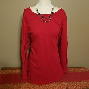 Woman Within Red 30/32 Shirt